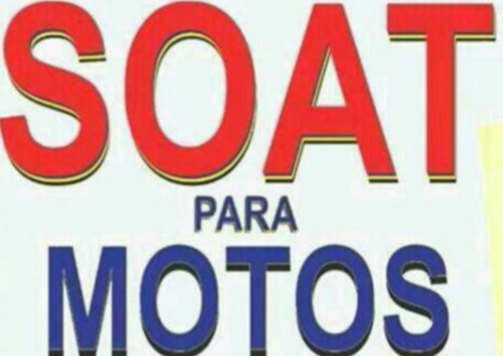 Soat Moto Rapifacil Mismo Dia 3007849523