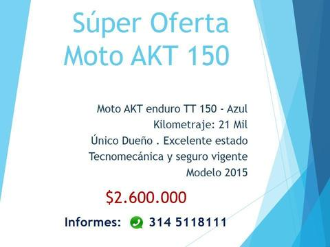 Súper Oferta Moto AKT 150